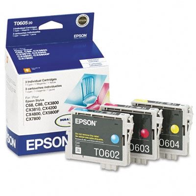 Picture of EPSON Stylus CX Ink Multi-Pack - Cyan, Magenta, Yellow (3 Pk)