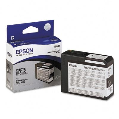 Picture of EPSON Stylus Pro K3 UltraChrome Ink Cartridges for 3800 and 3880 - Photo Black (80 mL)