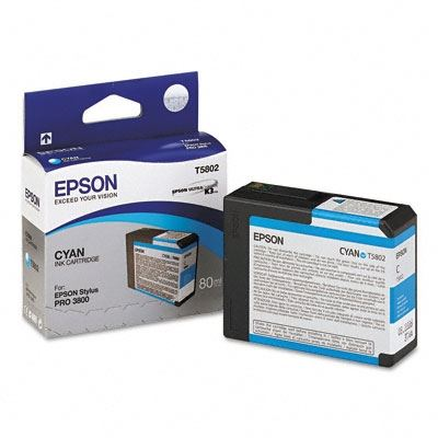 Picture of EPSON Stylus Pro K3 UltraChrome Ink Cartridges for 3800 and 3880 - Cyan (80 mL)