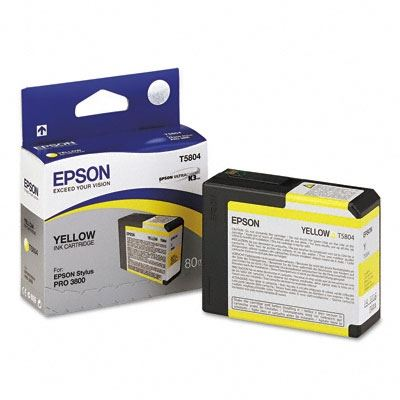 Picture of EPSON Stylus Pro K3 UltraChrome Ink Cartridges for 3800 and 3880 - Yellow (80 mL)