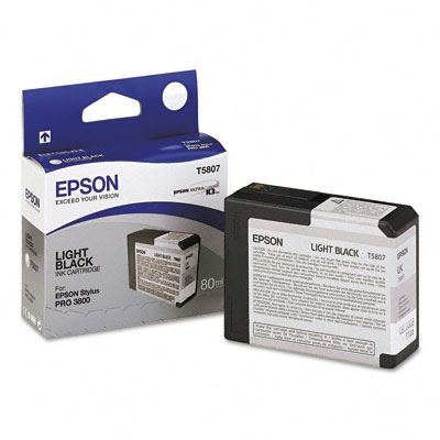 Picture of EPSON Stylus Pro K3 UltraChrome Ink Cartridges for 3800 and 3880 - Light Black (80 mL)