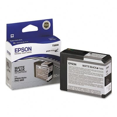 Picture of EPSON Stylus Pro K3 UltraChrome Ink Cartridges for 3800 and 3880 - Matte Black (80 mL)