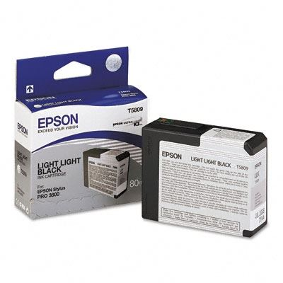 Picture of EPSON Stylus Pro K3 UltraChrome Ink Cartridges for 3800 and 3880 - Light Light Black (80 mL)