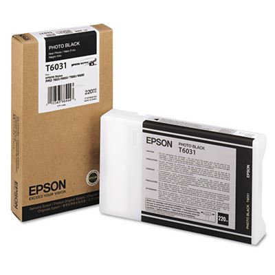Picture of EPSON Stylus Pro K3 UltraChrome Ink Cartridges for 7800/7880/9800/9880 - Photo Black (220 mL)