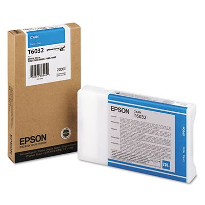 Picture of EPSON Stylus Pro K3 UltraChrome Ink Cartridges for 7800/7880/9800/9880 - Cyan (220 mL)