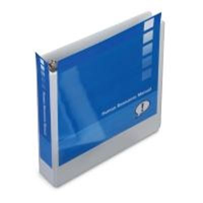 gbc white clear view standard presentation round ring binders 3in