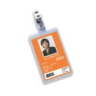 Picture of GBC HeatSeal Crystal Clear Badge Pouch Laminates with Slot