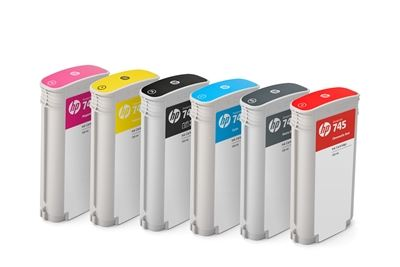 Picture of HP 745 Ink Cartridges for DesignJet Z2600/Z5600 (130mL)