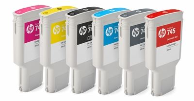 Picture of HP 745 Ink Cartridges for DesignJet Z2600/Z5600 (300mL)