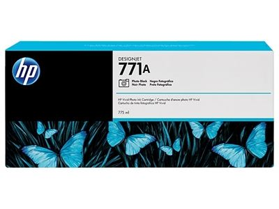Picture of HP 771 Ink Cartridges for Designjet Z6200 w/Vivid Photo Ink- Photo Black