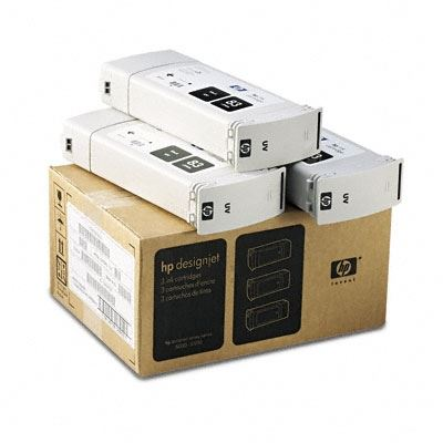 Picture of HP 83 Black UV Ink Cartridge 3-Pack for Designjet 5000/5500