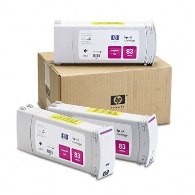 Picture of HP 83 Magenta UV Ink Cartridge 3-Pack for Designjet 5000/5500