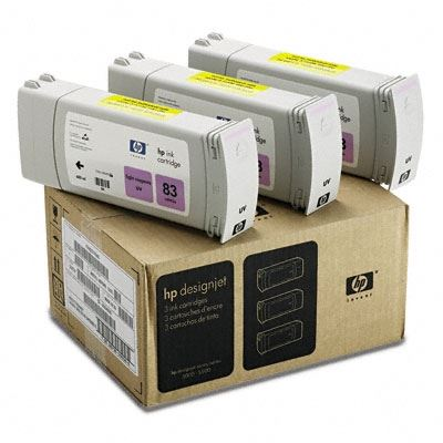 Picture of HP 83 Light Magenta UV Ink Cartridge 3-Pack for Designjet 5000/5500