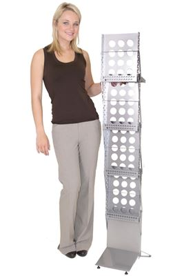 Picture of LexJet Illusion Collapsible Literature Rack - Silver