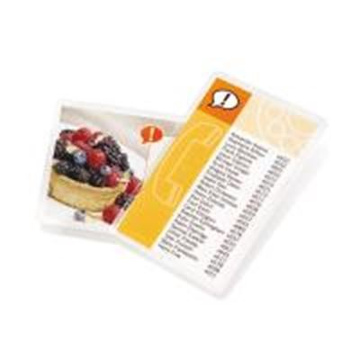 Picture of GBC HeatSeal Crystal Clear Small Index Card Pouch Laminates