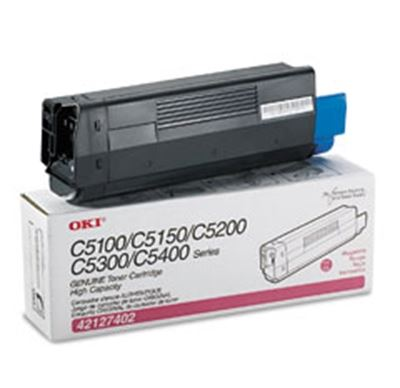 Picture of OKI High-Yield Toner Cartridge for 5100 through 5400 Series- Magenta