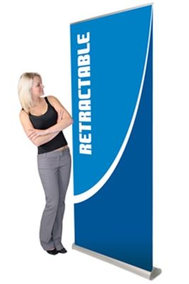 Picture of LexJet Orient Retractable Banner Stand- 35.5in Silver