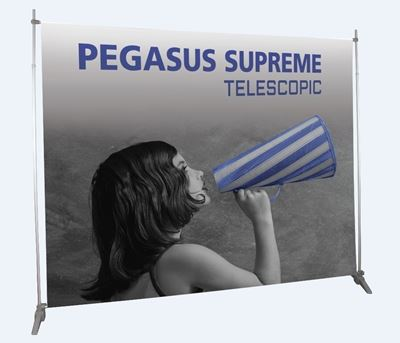 Picture of LexJet Pegasus Supreme Telescopic Banner Stand 63.5 - Black