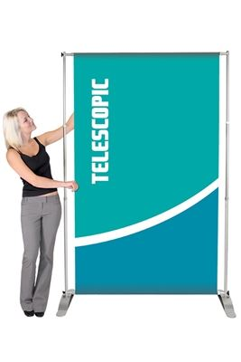 Picture of LexJet Pegasus Telescopic Banner Stand 51.5in - Silver