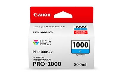 Picture of Canon imagePROGRAF PRO-1000 Ink - Cyan (80mL)