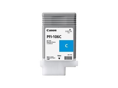Picture of Canon PFI-106 Ink for imagePROGRAF iPF6300/6400/6350/6450/6300S - Cyan (130 mL)