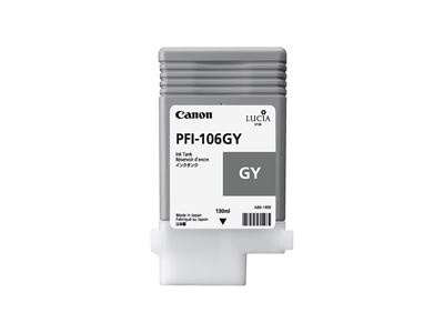 Picture of Canon PFI-106 Ink for imagePROGRAF iPF6300/6400/6350/6450/6300S - Gray (130 mL)