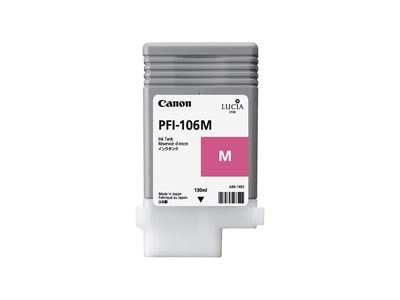 Picture of Canon PFI-106 Ink for imagePROGRAF iPF6300/6400/6350/6450/6300S - Magenta (130 mL)