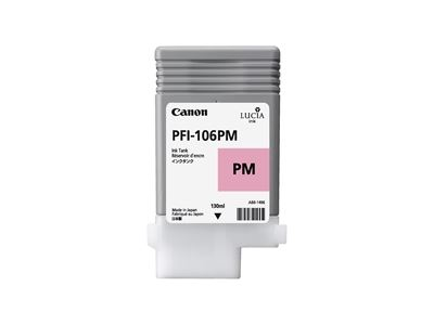 Picture of Canon PFI-106 Ink for imagePROGRAF iPF6300/6400/6350/6450/6300S - Photo Magenta (130 mL)
