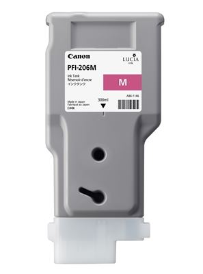 Picture of Canon PFI-206 Ink for imagePROGRAF iPF6400/6400S/6450 - Magenta (300 mL)