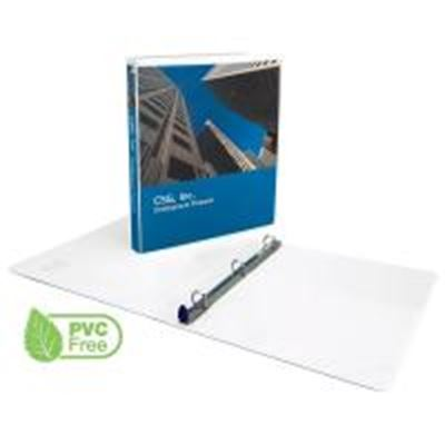 Picture of GBC White Clear View Premium Presentation Round Ring Binders- 1in Ring