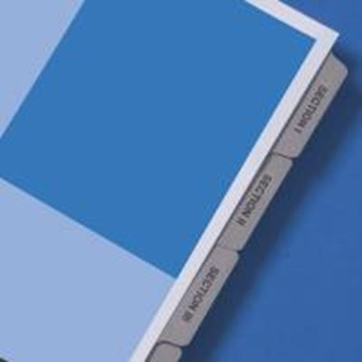 Picture of GBC Preprinted Presentation Tabs- A-J plus Table of Contents