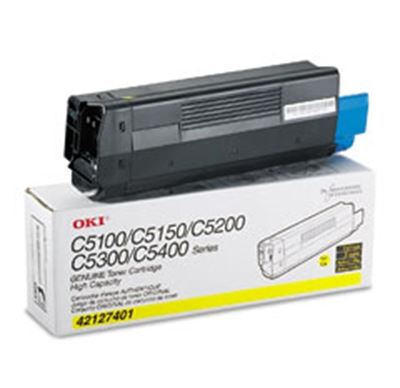 Picture of OKI High-Yield Toner Cartridge for 5100 through 5400 Series- Yellow