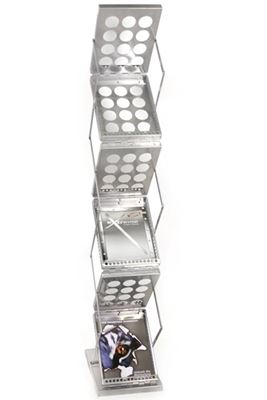Picture of LexJet ZedUP Collapsible Literature Rack - Silver