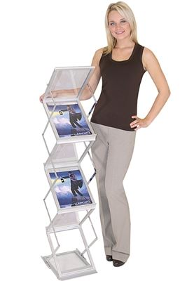 Picture of LexJet ZedUP Lite Collapsible Literature Rack - Silver