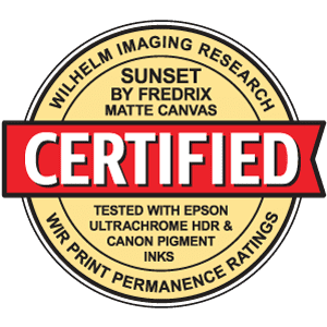 Wilhelm Certificate - Sunset by Fredrix Matte Canvas