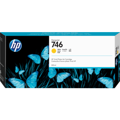Picture of HP 746 Yellow Ink Cartridge for DesignJet Z6/Z9+ (300mL)
