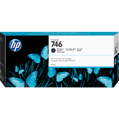 Picture of HP 746 Matte Black Ink Cartridge for DesignJet Z6/Z9+ (300mL)