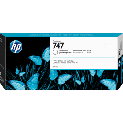 Picture of HP 747 Gloss Enhancer Ink Cartridge for DesignJet Z9+ (300 mL)