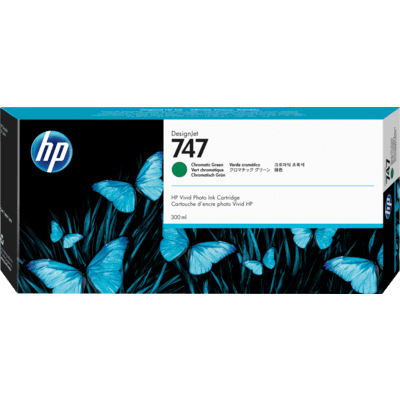 Picture of HP 747 Chromatic Green Ink Cartridge for DesignJet Z9+ (300mL)