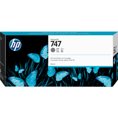 Picture of HP 747 Gray Ink Cartridge for DesignJet Z9+ (300mL)