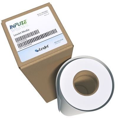 Picture of LexJet InFuze® Rigid Substrate Dye-Sublimation Paper- 37in x 250ft