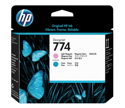 Picture of HP 774 Printheads for DesignJet Z6610 & Z6810 Printers (Light Magenta/Light Cyan)