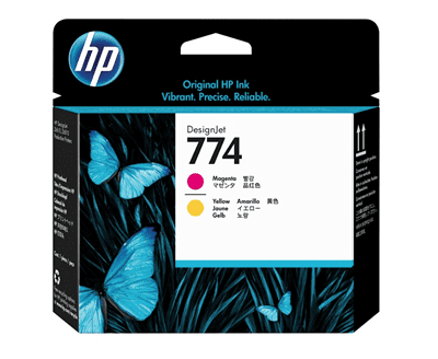 Picture of HP 774 Printheads - Yellow/Magenta