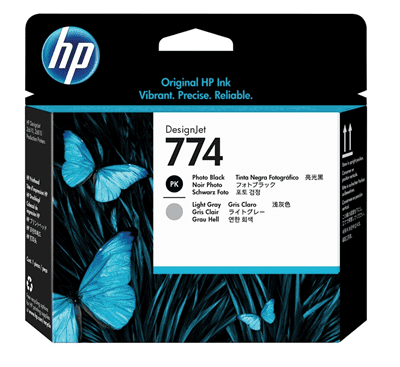 Picture of HP 774 Printheads for DesignJet Z6610 & Z6810 Printers (Black/Light Gray)