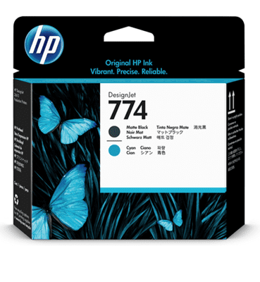 Picture of HP 774 Printheads for DesignJet Z6610 & Z6810 Printers (Black/Cyan)