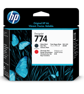 Picture of HP 774 Printheads for DesignJet Z6610 & Z6810 Printers (Black/Chromatic Red)
