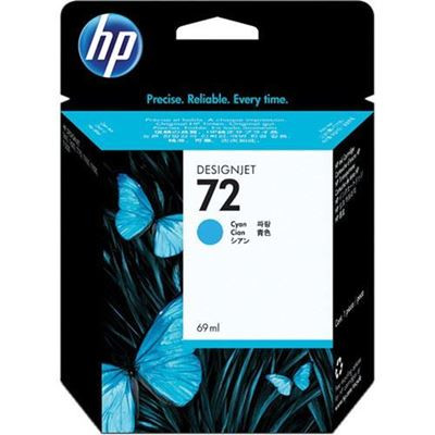 Picture of HP 72 Ink Cartridges Cyan (69 mL)
