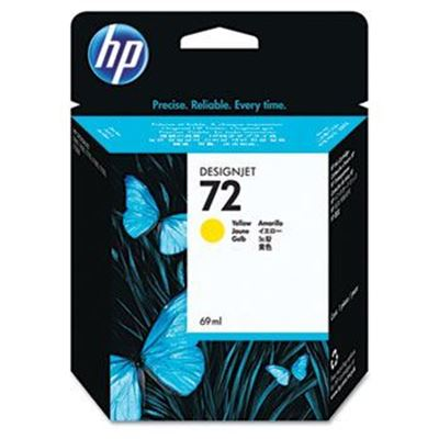Picture of HP 72 Ink Cartridges Yellow (69 mL)