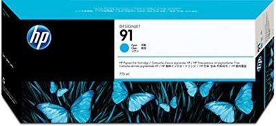 Picture of HP 91 Cyan Ink Cartridges for Designjet Z6100