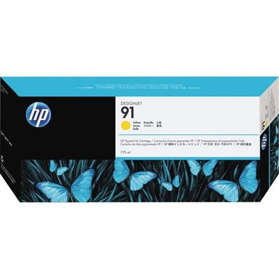 Picture of HP 91 Yellow Ink Cartridges for Designjet Z6100